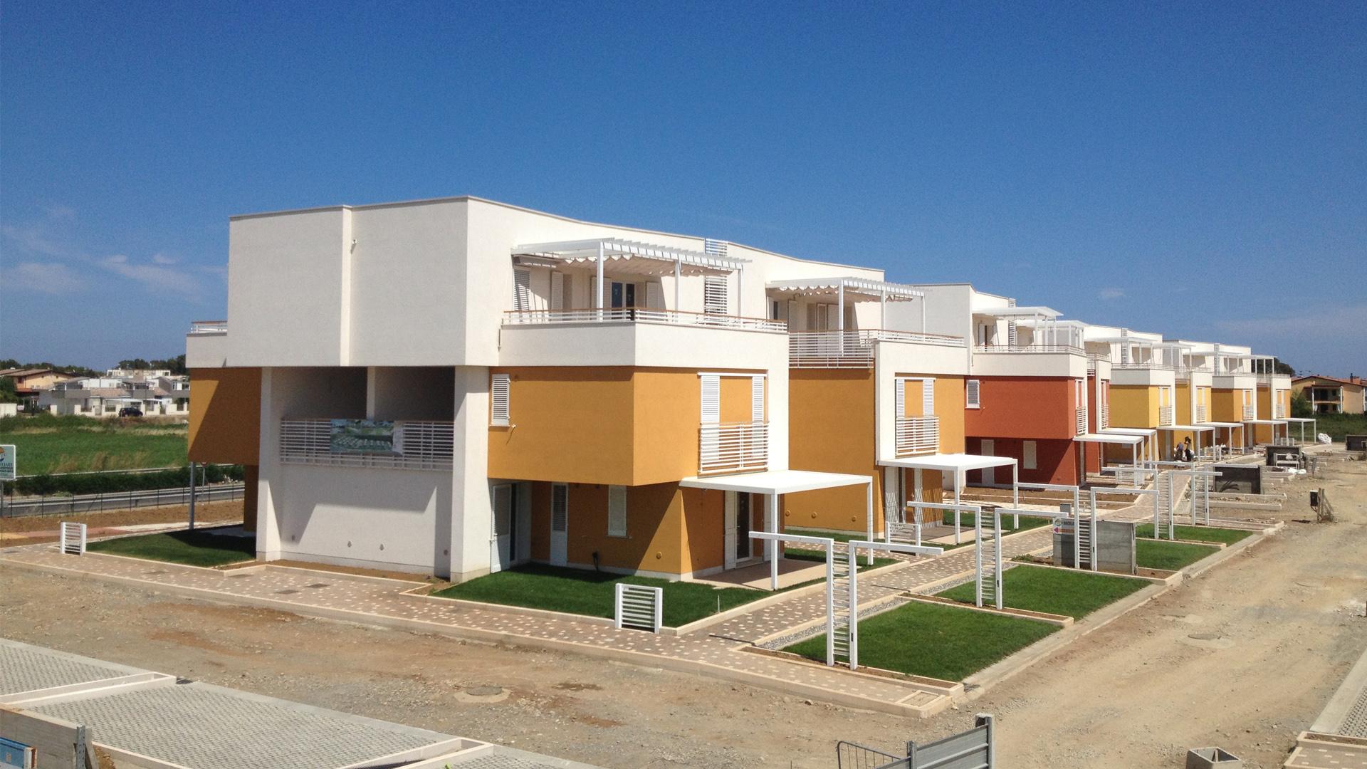 Policoro insediamento turistico olimpia mauro saito for Piccoli piani di progettazione di edifici commerciali